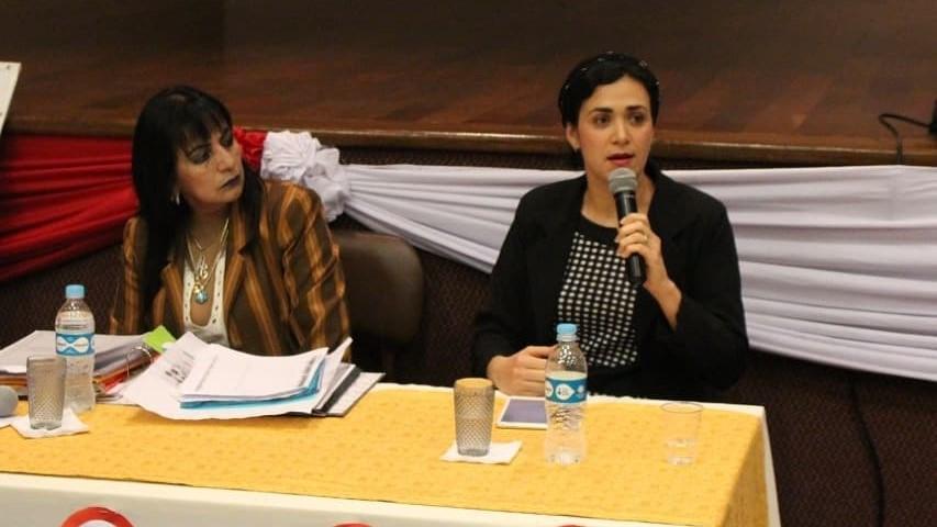 Lic. Antonia Salinas y Lic. Ruth Etcheverry