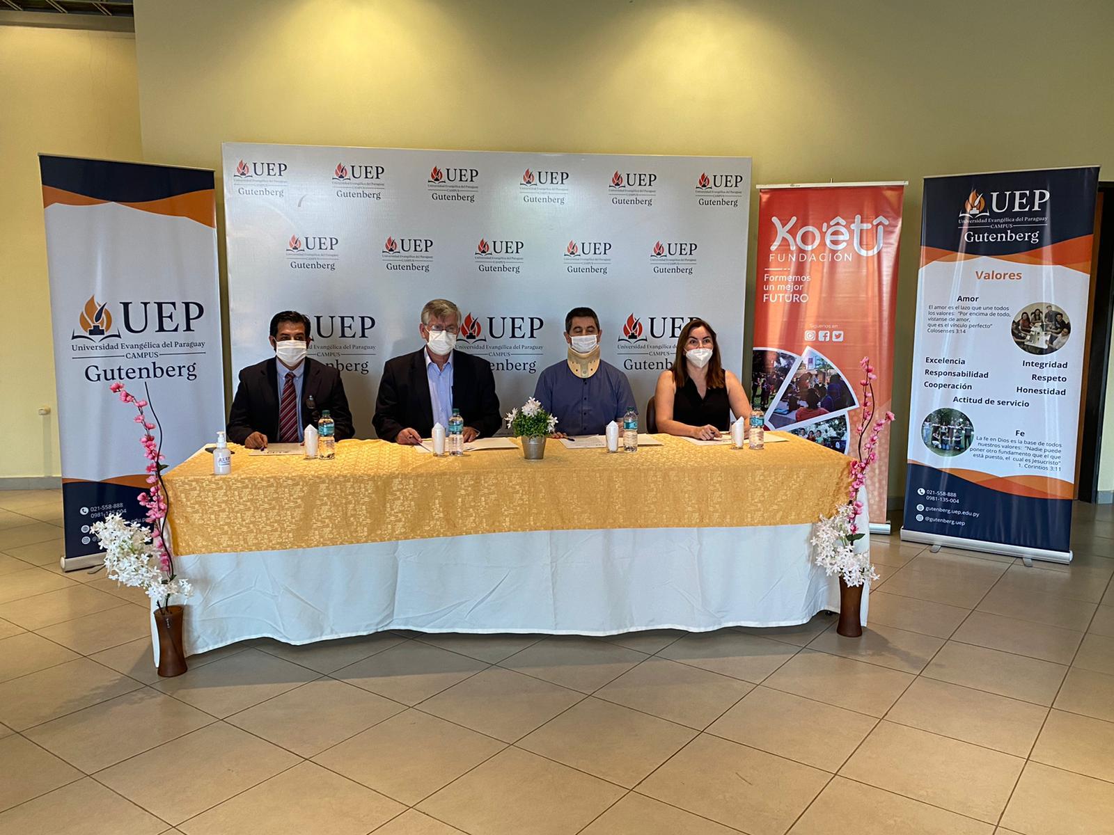 Convenio de Cooperación Interinstitucional y Curso de Capacitación entre la UEP Campus Gutenberg y